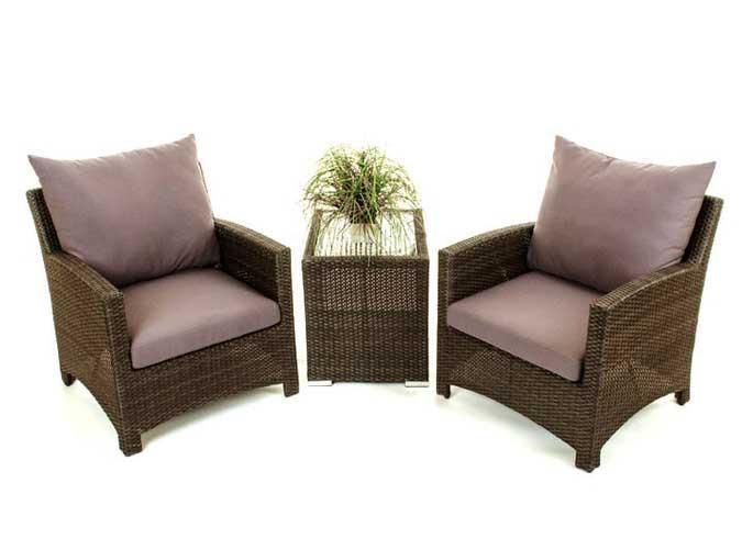 Ensemble De Deux Chaise De Balcon Confort Et Table D