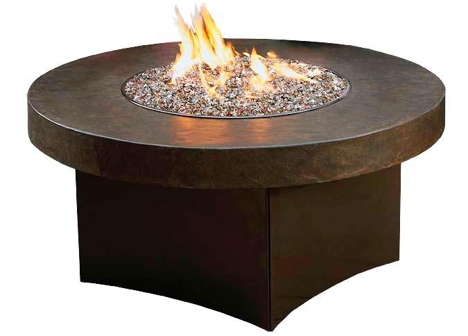 Foyer Table Ottawa : Foyer extérieur savana stone avec table de feu ronde en