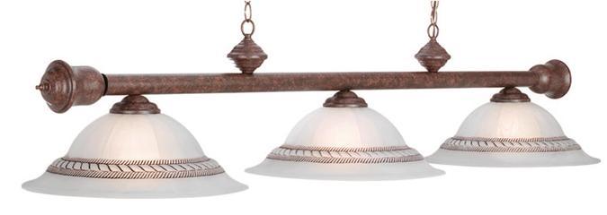 Lampe pour table de billard corda triple abat jour brune lampes de tables de billard et jeu - Lampe pour table de billard ...