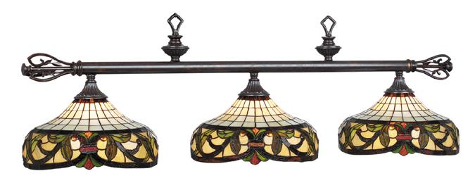 Lampe tiffany triple harmonie pour table de billard lampes de tables de billard et jeu palason - Lampe pour table de billard ...
