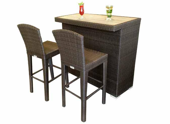 Table de bar ext rieur cinco pour patio mobilier jardin for Table exterieur pour restaurant