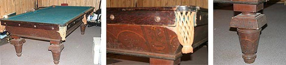 Restauration de table de billard antique et réparation après sinistre - Image 2