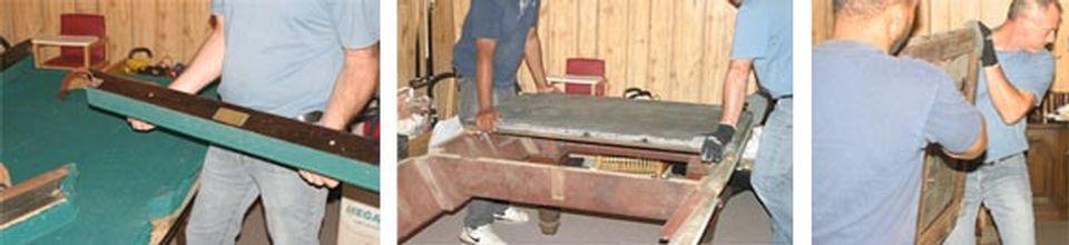 Restauration de table de billard antique et réparation après sinistre - Image 3