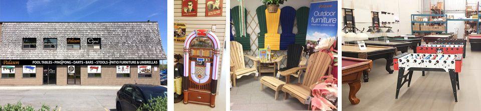 Palason Ottawa est un magasin de tables de billard, tables de ping pong, babyfoot soccer, ainsi qui représente un gamme complète de meubles de jardin ainsi que parasols et foyers exterieur et tables de billard situé à Ottawa Ontario