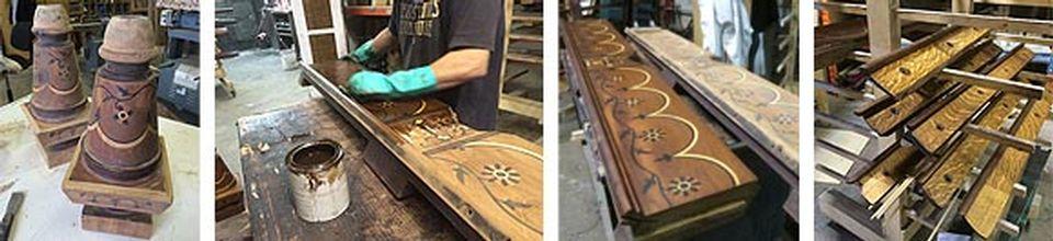Restauration de table de billard antique et réparation après sinistre - Image 4