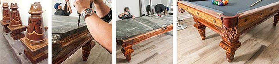 Restauration de table de billard antique et réparation après sinistre - Image 5