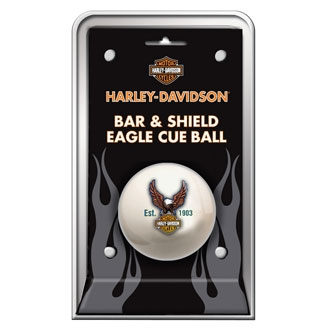 Harley-Davidson bar and shield eagle cue ball 2 1/4 inch