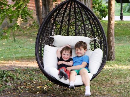 Ogni Escape hanging chair for outdoor patio or indoor use