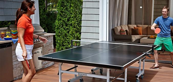 Table de tennis extérieure et intérieure Brunswick ping pong Smash I/O