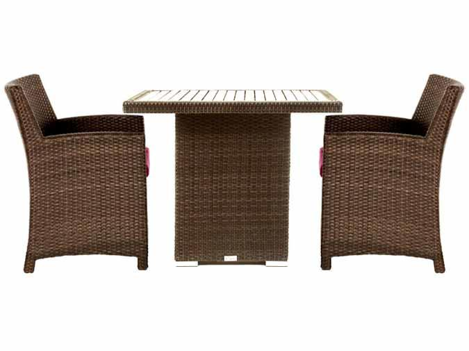 Condo Outdoor Furniture Patio Dining Table And Chair Set For Balcony Or  Small Deck Area