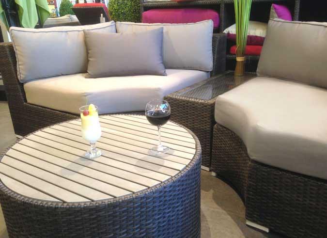 Ensemble de meubles de jardin Demiluna trois pièces