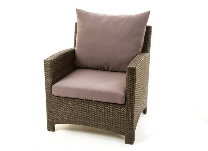 Comfort balcony chair set with matching wicker end table