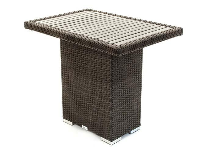 Condo Counter outdoor furniture patio dining table and chair set for balcony or small deck area