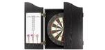 Cabinet de dard noir Onyx avec cible et fléchettes