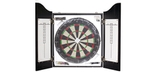 Dart cabinet in Onyx black with dartboard and darts