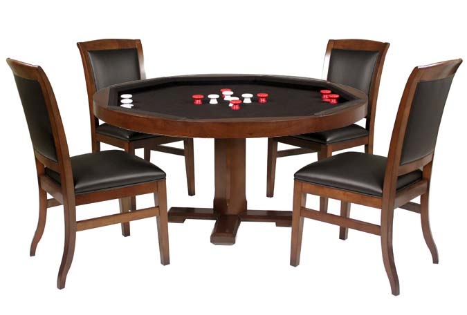 Bumper pool table with dining top and chairs