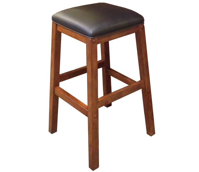 tabouret de bar en bois carre heritage avec fini porto. Black Bedroom Furniture Sets. Home Design Ideas
