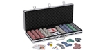Poker chip case set of 500 Bling pcs