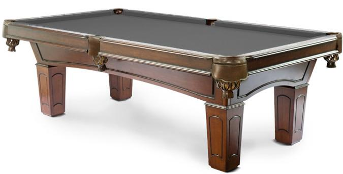 Ascot Walnut 8 foot pool table with real 1 inch slate and 25 year warranty
