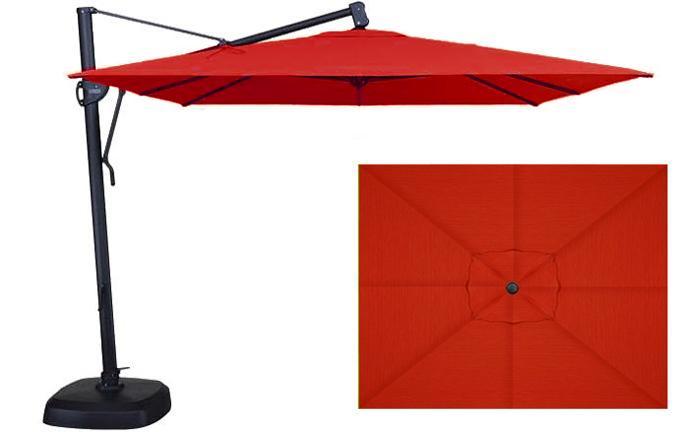 Parasol de jardin rectangulaire rouge 10 x 13 pieds Treasure Garden