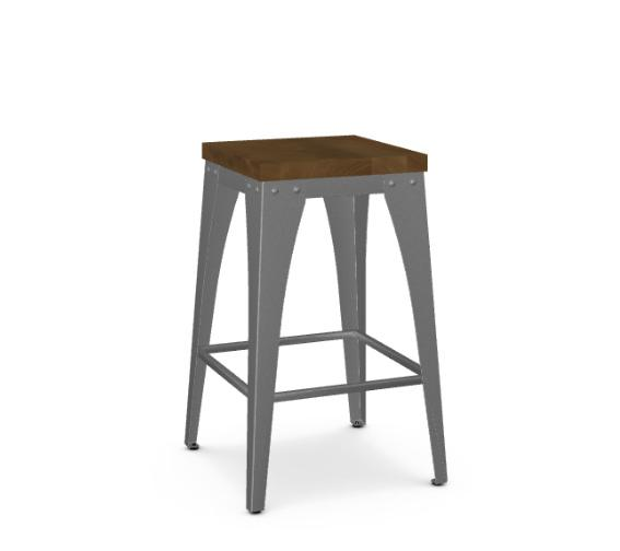 Amisco Upright 40264 Industrial looking barstool