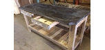 Industrial bar table - Recycled wood and repurposed slate