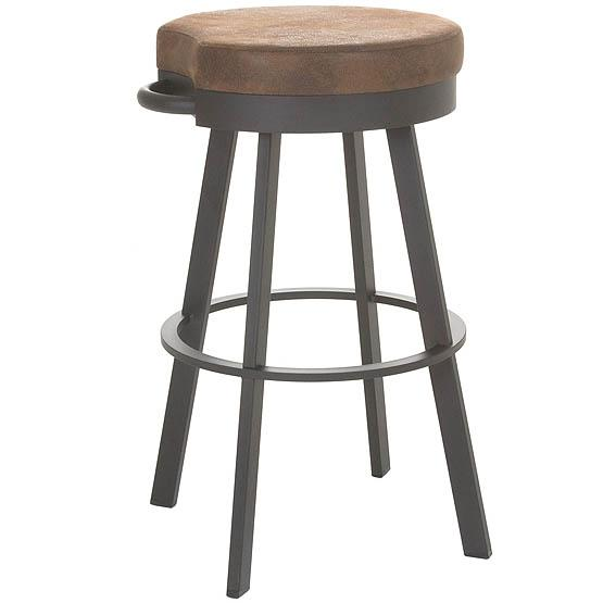Bryce Repurposed Wood Seat Industrial Style Bar Stool By