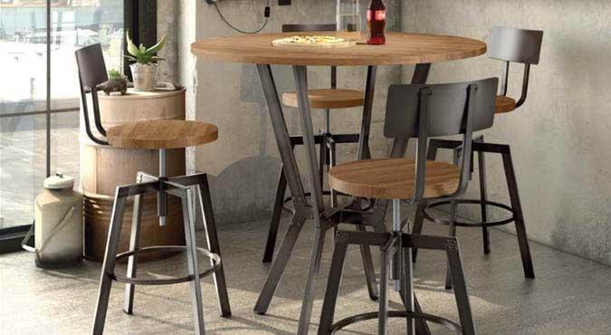Table cuisine style industriel cuisine table carree idees for Table carree style industriel