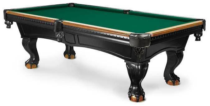 Table billard Majestic Pinnacle 2-tons noir et noyer foncé