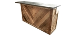 Re-purposed recycled wood bar for island or store cash counter