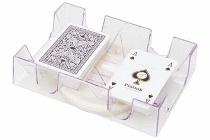 Rotating game card tray