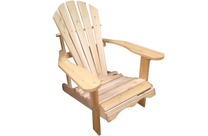 chaise adirondack en bois de c dre canadien. Black Bedroom Furniture Sets. Home Design Ideas