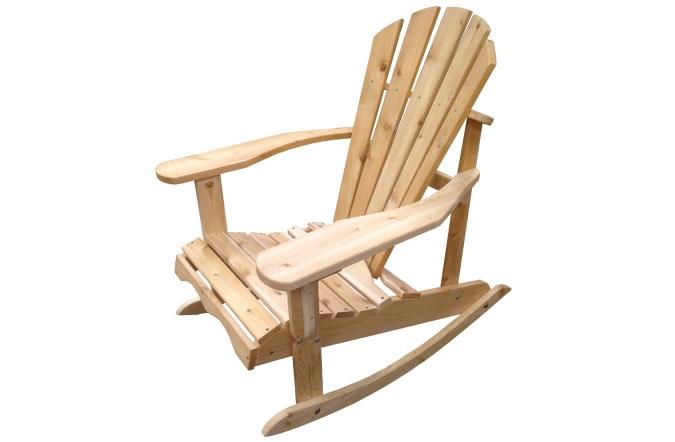 Adirondack Rocking Chair In White Cedar