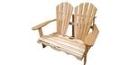 Chaise double causeuse Adirondack en cèdre blanc canadien