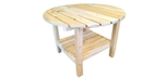 Adirondack Coffee Table with 26 inch top made of Canadian white Cedar