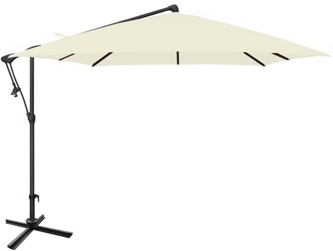 White Patio Umbrella 259 Cm ...
