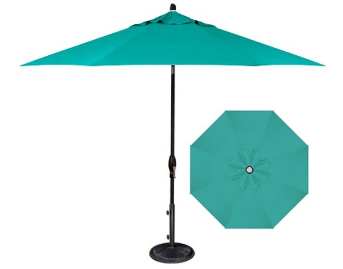 Light Blue Patio Umbrella In 9 Foot Aqua Shade