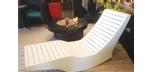 Chaise longue berçante en bois Ogni Balance