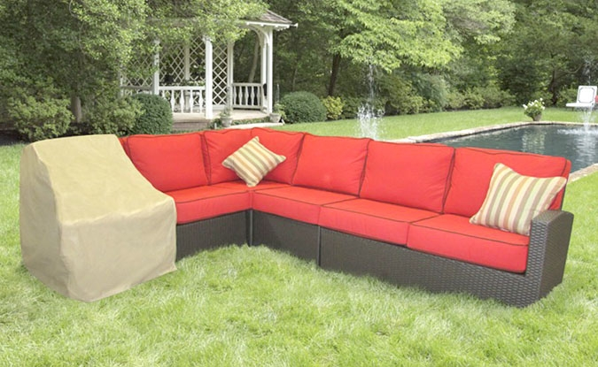 Left end sectional patio furniture protective cover 32W x 40D x 32H