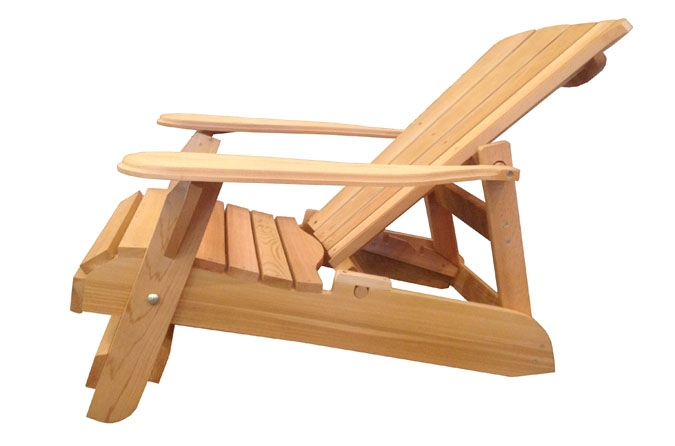 Reclining Adirondack Chair Made Of Canadian Red Cedar