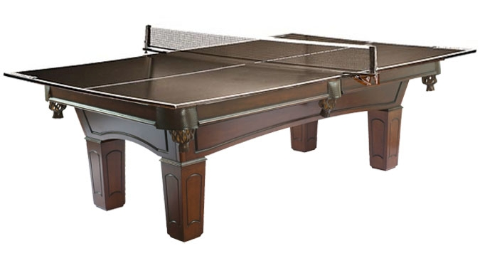 Ping pong table top made for use with pool table