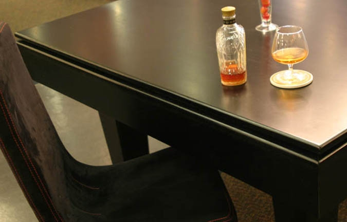 Dessus de table à dîner noire pour table de billard 8 pieds