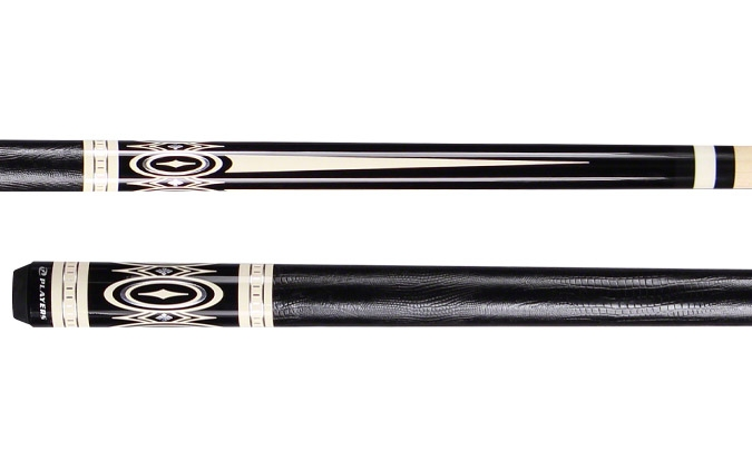 Quality made Players G3398 black and white pool cue