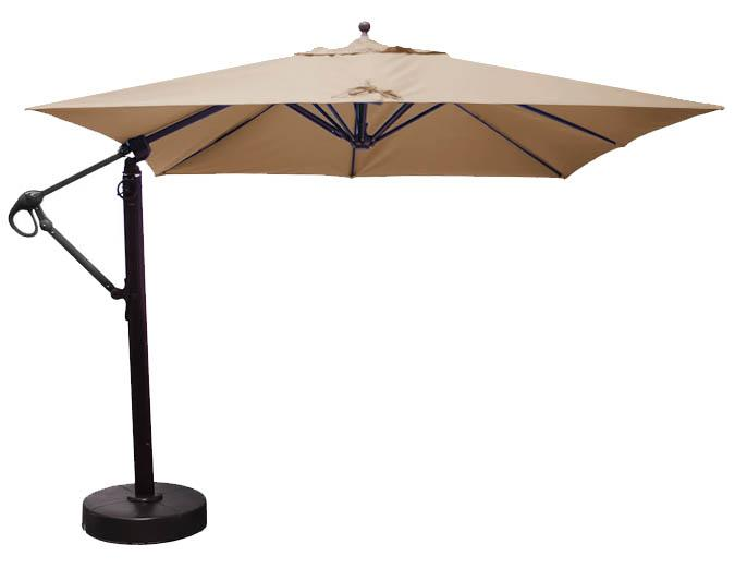 parasol carr d port de 10 pieds avec tissu sunbrella beige. Black Bedroom Furniture Sets. Home Design Ideas