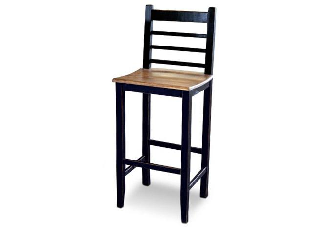 tabouret de bar de 30 pouces en bois massif rustique. Black Bedroom Furniture Sets. Home Design Ideas