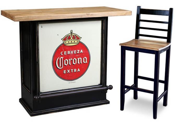 Corona 30 inch rustic residential bar stool