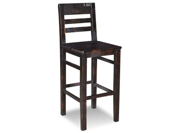 tabouret de bar r sidentiel rustique industriel graffiti. Black Bedroom Furniture Sets. Home Design Ideas