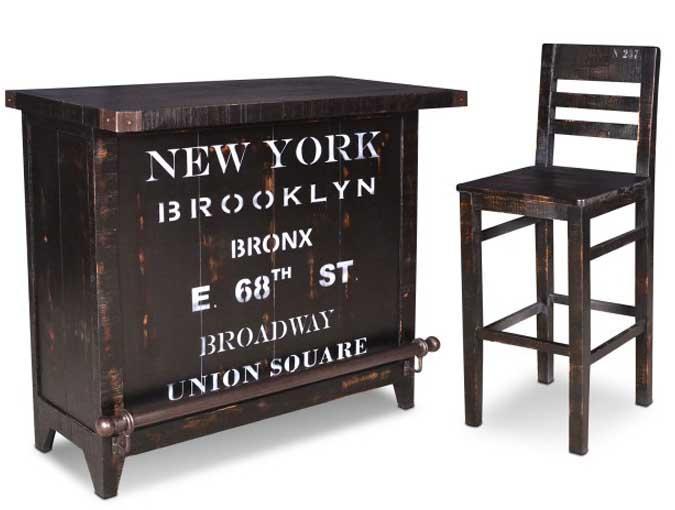 30 inch tall rustic industrial looking bar stool