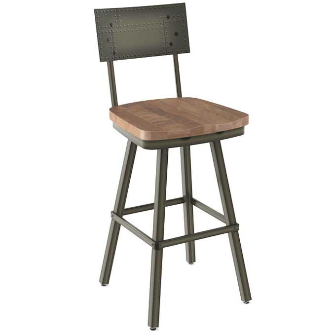 Jetson repurposed wood and metal kitchen stool