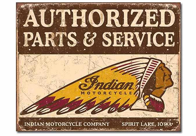 Indian antique motorcycle retro reproduction metal sign